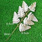 Other Leaves, Artificial fibers, Silver colour, 1 piece, 35cm
