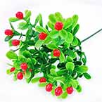Artificial leaves, Plastic and wires, 1 Plastic flowers, 22cm Plastic flowers