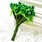 Mini Bouquet Flower Stamen - Pearlescent, green, 12 pieces, Long 9cm
