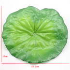 Lotus leaf, Plastic, green, 16cm  x 18.2cm, 4 pieces