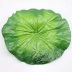 Lotus leaf, Plastic, green, 22cm  x  24cm, 3 pieces