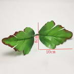 Peony leaf, Plastic, green, Dark red, 8cm  x 10cm, 10 pieces