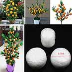 Oranges, foam, white, 3.5cm x 3.5cm x 2.5cm, 15 pieces