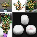 Oranges, foam, white, 3cm x 3cm x 2cm, 15 pieces