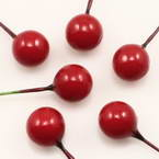 Peony bud, foam and wires, Pinkish red, 0.8cm x 0.8cm x 5.5cm, 15 pieces