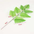 Other Leaves, Cloth and Plastic, green, 9.5cm x 6.5cm, 2 pieces