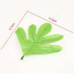 Peony leaf, Cloth and Plastic, green, 12cm x 11.5cm, 10 pieces