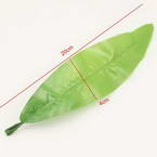 Tulip leaf, Cloth and Plastic, Light green, 20cm x 4cm, 10 pieces