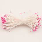 Flower stamen, Magenta, white, 100  pieces (approximate), 6cm