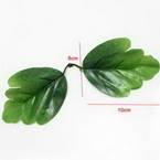Peony leaf, Plastic, green, 10cm x 8cm, 10 pieces