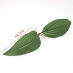 Lily leaf, Cloth and Plastic, green, 4cm  x 10.5cm, 10 pieces