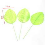 Rose leaf, Cloth and metal alloy, green, 10cm x 4cm, 10 pieces