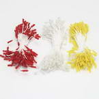 Flower stamen, white, red, 240 pieces (approximate)