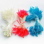 Flower stamen, white, pink, 240 pieces (approximate)