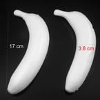 Banana foam model, foam, white, 17cm x 3.8cm x 8cm, 2 pieces