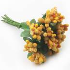 Flower stamen, orange, 10 pieces