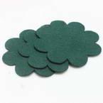 Woolen Fabric shapes, Woolen, Dark green, 8cm x 8cm x 2mm, 5 pieces