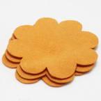 Woolen Fabric shapes, Woolen, orange, 8cm x 8cm x 2mm, 5 pieces