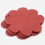 Woolen Fabric shapes, Woolen, Burgandy, 8cm x 8cm x 2mm, 5 pieces