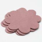 Woolen Fabric shapes, Woolen, pink, 8cm x 8cm x 2mm, 5 pieces