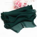 Sheers Cloth, Sheer, Dark teal, 95cm x 20cm (approximate)