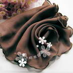 Sheers Cloth, Sheer, brown, 95cm x 20cm (approximate)