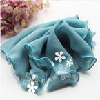 Sheers Cloth, Sheer, Turquoise colour, 95cm x 20cm (approximate)
