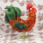 Handmade nylon product, wires and Nylon, Rooster, 1 Animal, 23cm x 10cm x 22cm