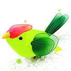Handmade nylon product, wires and Nylon, green, Bird, 1 Animal, 13cm x 6cm x 6cm
