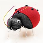 Handmade nylon product, wires and Nylon, Burgandy, Insects, 1 Animal, 7.5cm x 5.5cm