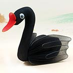 Handmade nylon product, wires and Nylon, black, Swan, 1 Animal, 11cm x 8cm x 8cm