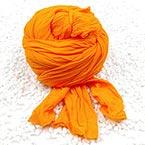 Single colour Specially dyed nylon, Nylon, orange, 1 piece, Stretched size 1.5m x 15cm