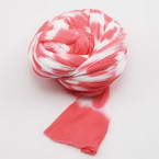 Two colours Specially dyed nylon, Nylon, Magenta, white, Stretched size 1.5m x 15cm, 1 piece