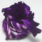 Two colours Specially dyed nylon, Nylon, Dark purple, white, Stretched size 1.5m x 15cm, 1 piece