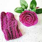 Shimmering Nylon, Violet, Silver colour, Stretched Size 100cm x 25cm, 1 piece
