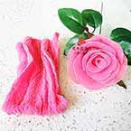 Nylon Brillant, Nylon, rose, 1 morceau, Étiré taille 110cm x 25cm