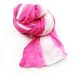 Nylon spécial - 2 couleurs verticale, Nylon, rose, blanc, 1 morceau, Étiré taille 2m x 20cm