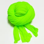 Single colour Specially dyed nylon, Nylon, Green-Yellow, Stretched Size 1.5m x 15cm, 1 piece