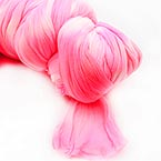 Two colours Specially dyed nylon, Nylon, pink, white, 1 piece, Stretched size 1.5m x 15cm