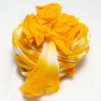 Two colours Specially dyed nylon, Nylon, Mustard, white, Stretched Size 1.5m x 15cm, 1 piece
