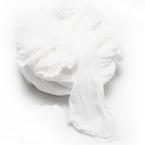 Single colour Specially dyed nylon, Nylon, white, Stretched size 1.5m x 15cm, 4 pieces