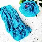 Nylon Brillant, Nylon, Bleu-vert, Couleur argent, 1 morceau, Étiré taille 1m x 25cm