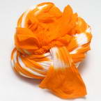 Two colours Specially dyed nylon, Nylon, orange, white, Stretched Size 1.5m x 15cm, 1 piece