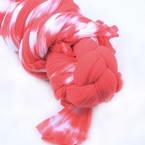 Two colours Specially dyed nylon, Nylon, Magenta, white, Stretched Size 1.9m x 26cm, 1 piece