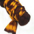 Two colours Specially dyed nylon, Nylon, brown, Burnt orange, Stretched Size 1.9m x 26cm, 1 piece