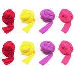 Single colour Specially dyed nylon, Nylon, Magenta, Yellow, Stretched Size per piece 1.5m x 15cm, 8 pieces