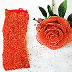 Nylon Brillant, Nylon, rouge, Couleur de l'or, Étiré Taille 100cm x 25cm (approximatif), 1 morceau