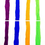 Single colour Specially dyed nylon, Nylon, orange, Light green, Stretched Size per piece 1.5m x 15cm, 4 pieces