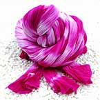 Two colours Specially dyed nylon, Nylon, Dark purple, white, Stretched Size per piece 1.5m x 15cm, 4 pieces