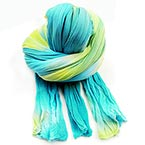 Two colours Specially dyed nylon, Nylon, blue, Green-Yellow, Stretched Size 2.5m x 20cm, 1 piece
